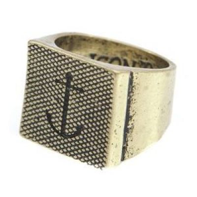 Icon Brand Unisex Blythe Ring Size Large Basmetall P1165-R-GLD-LGE