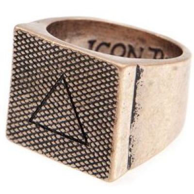 Icon Brand Unisex Lovell Ring Size Large Basismetaal P1166-R-COP-LGE