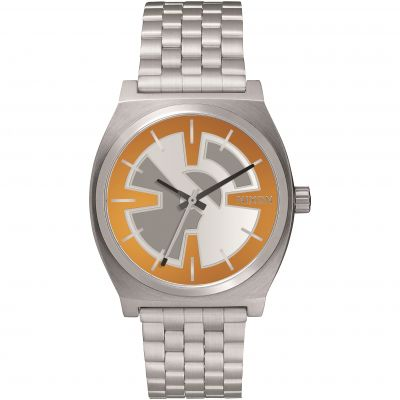 Nixon BB-8 Orange/Black The Time Teller SW BB-8 Orange / Black Unisexuhr in Silber A045SW-2605