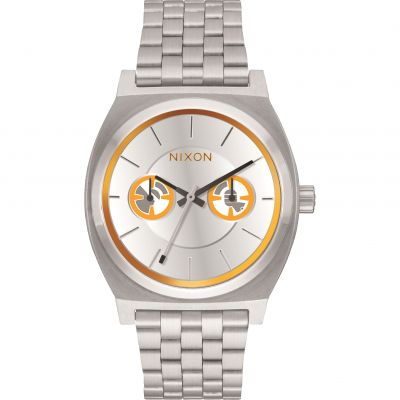 Nixon BB-8 Orange/Black The Time Teller Deluxe SW BB-8 Silver / Unisexuhr in Silber A922SW-2604