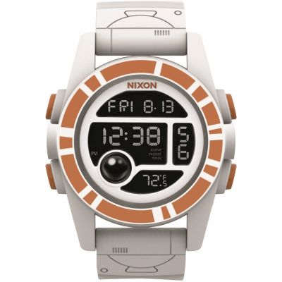 Mens Nixon The Unit 40 SW BB-8 White / Orange Alarm Chronograph Watch A490SW-2606
