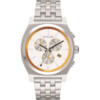 Nixon BB-8 White/Orange The Time Teller Chrono SW BB-8 White / Unisexuhr in Silber A972SW-2606
