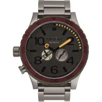 Mens Nixon The 51-30 SW Boba Fett Red / Gray Chronograph Watch