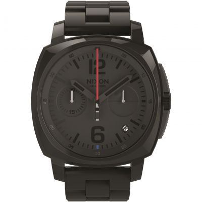 Mens Nixon The Charger Chrono SW Vader Black Chronograph Watch A1071SW-2244