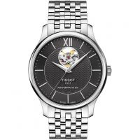 Mens Tissot Tradition Open Heart Powermatic 80 Automatic Watch T0639071105800