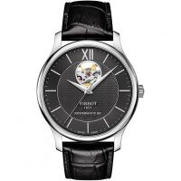 Mens Tissot Tradition Open Heart Powermatic 80 Automatic Watch T0639071605800