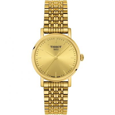 Tissot T-Classic Everytime Damenuhr in Gold T1092103302100