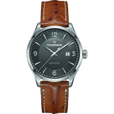 Hamilton Jazzmaster Viewmatic 44mm Herenhorloge Bruin H32755851