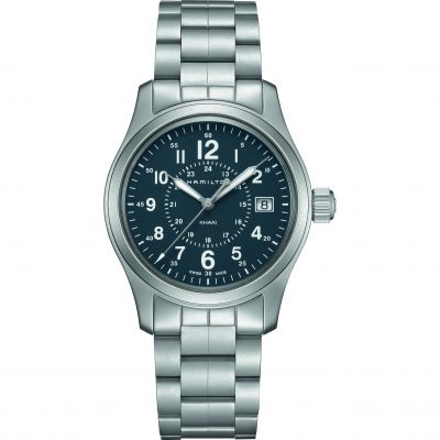 Hamilton Khaki Field 38mm Herrenuhr in Silber H68201143