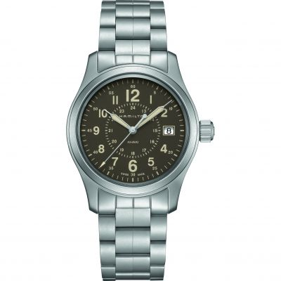 Hamilton Khaki Field 38mm Herrenuhr in Silber H68201193