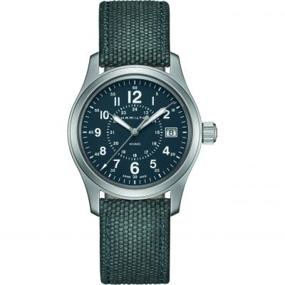 Hamilton Khaki Field 38mm Herrenuhr in Blau H68201943