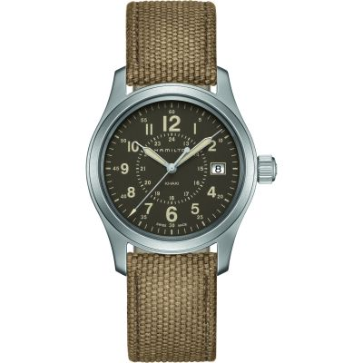 Hamilton Khaki Field 38mm Herrenuhr in Grün H68201993