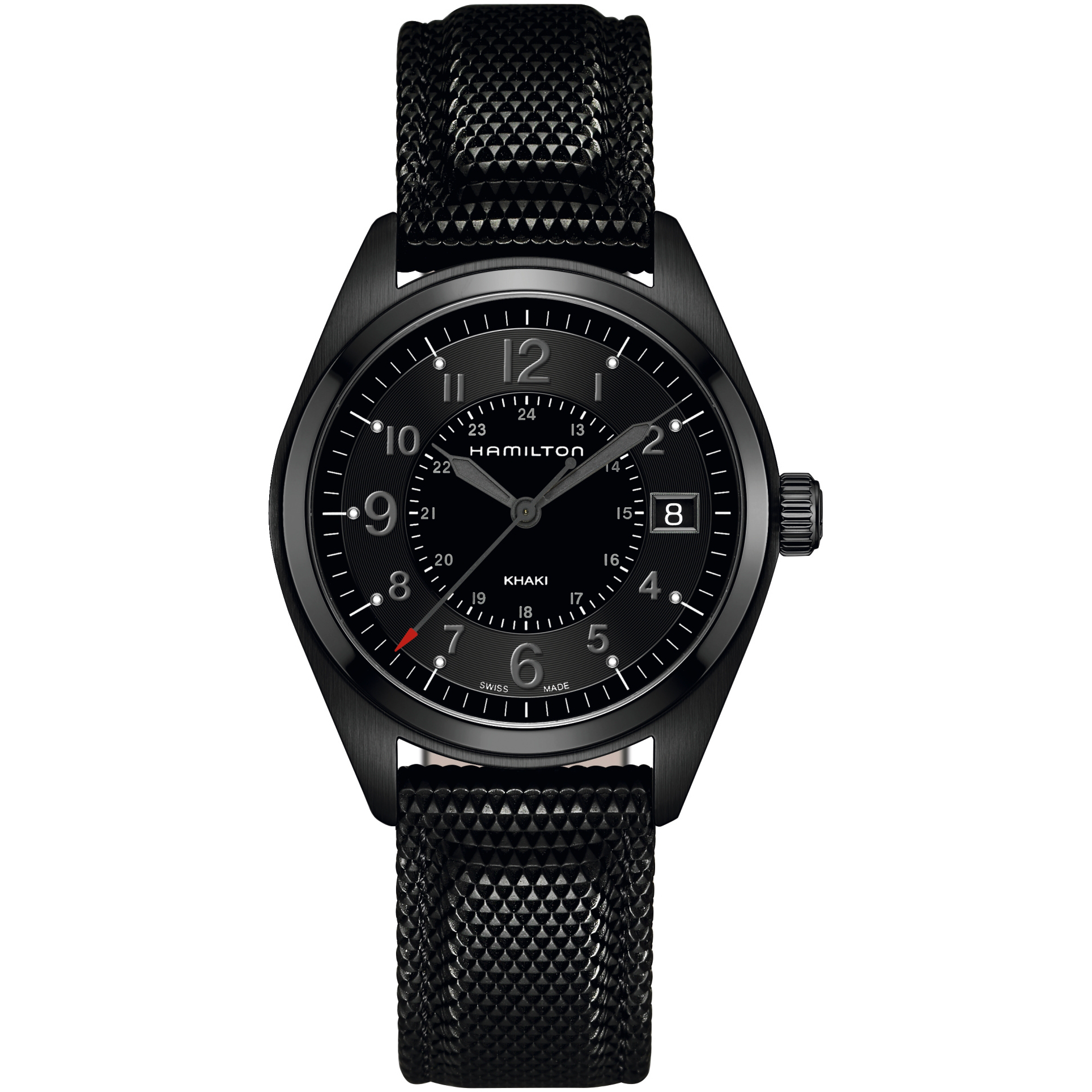 watches glycine mens gmt pvd men black airman automatic s itm