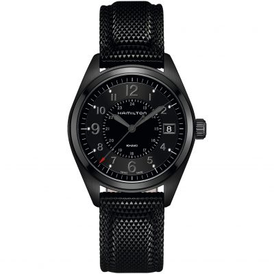 Hamilton Black Series Khaki Field 40mm Herrenuhr in Schwarz H68401735