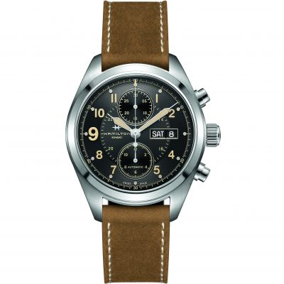 Mens Hamilton Khaki Field 42mm Automatic Chronograph Watch H71616535