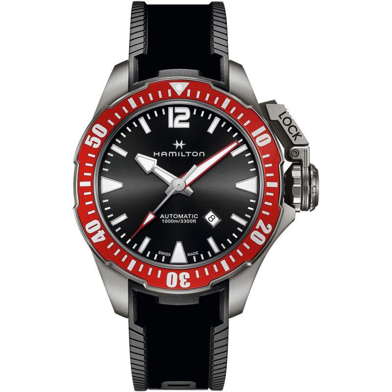 Mens Hamilton Khaki Frogman 46mm Titanium Automatic Watch