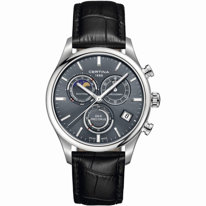 Mens Certina DS-8 Precidrive Moonphase Chronograph Watch C0334501635100