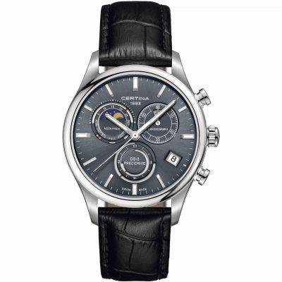 Certina DS-8 Precidrive Moonphase Herrenchronograph in Schwarz C0334501635100