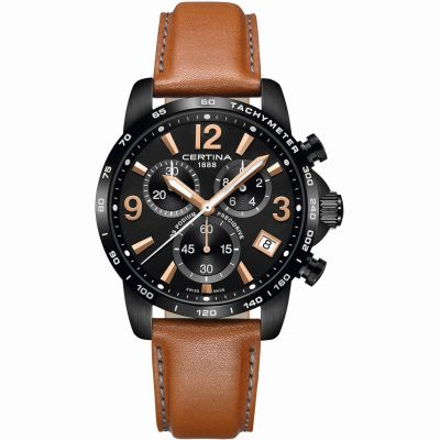 Certina DS Podium Precidrive Herrenchronograph in Braun C0344173605700