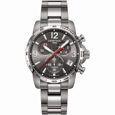 Certina DS Podium Precidrive Herrenchronograph in Grau C0344174408700