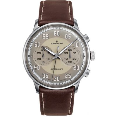 Junghans Meister Driver Chronoscope Herrenchronograph in Braun 027/3684.00