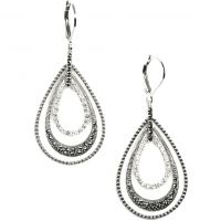Ladies Judith Jack PVD Silver Plated Earrings 79949275-J46