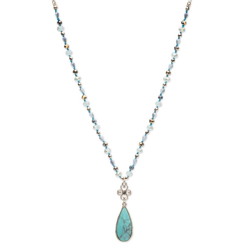 Ladies Lonna And Lilly Silver Plated Necklace 60432041-H46
