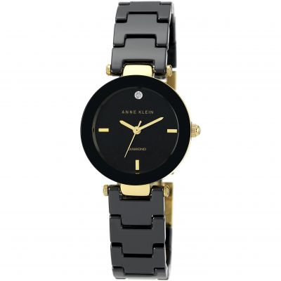 Ladies Anne Klein Ceramic Watch AK/N1464BKGB