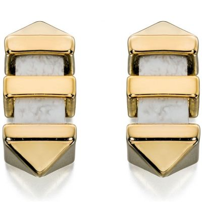 Biżuteria damska Fiorelli Jewellery Marble Bar Stud Earrings E5126