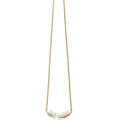 Ladies Fiorelli PVD Gold plated Long Snake Bar Necklace N3937