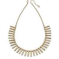 Ladies Fiorelli PVD Gold plated Multi Bar Collar Necklace N3943