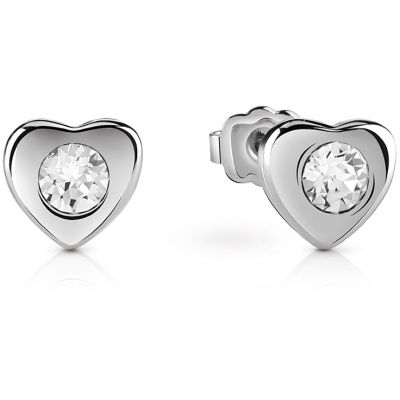 Guess Dames Little Heart Stud Earrings Verguld rhodium UBE61083