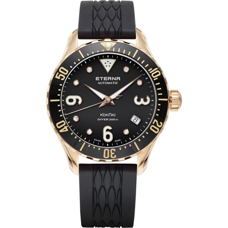 Image of  			   			  			   			  Mens Eterna KonTiki Diver Automatic Watch