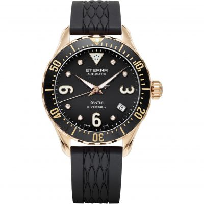 Mens Eterna KonTiki Diver Automatic Watch 1280.64.49.1381