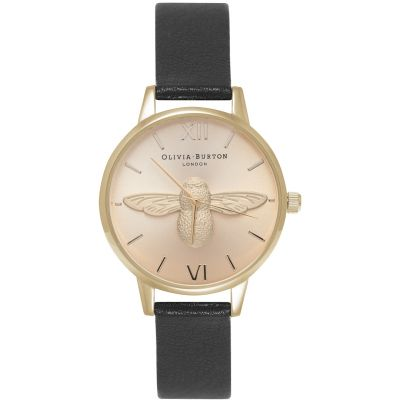 3D Bee Gold & Black Watch