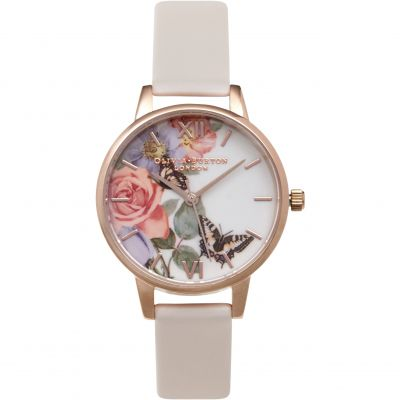Enchanted Garden Rose Gold & Blush Watch