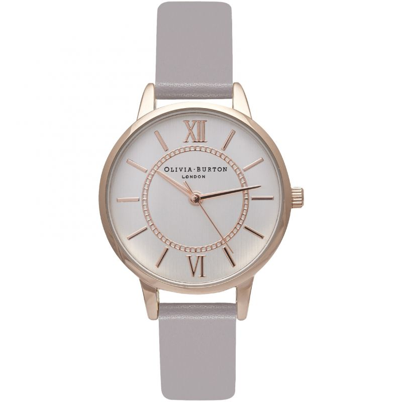 Wonderland SilverGrey Lilac & Rose Gold Watch