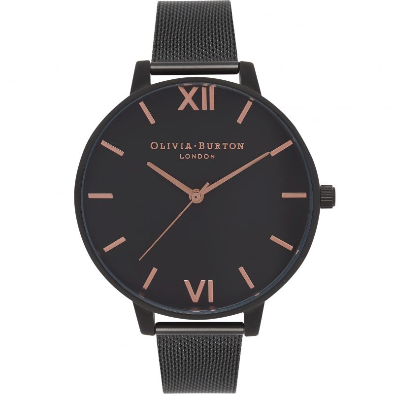 After Dark Black & Rose Gold Watch