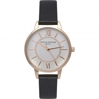 Montre Femme Olivia Burton After Dark Black Rose Gold & Black OB15WD59