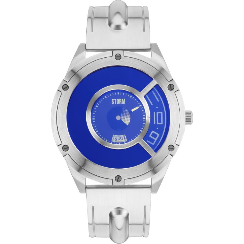 Mens Storm Steffentron Lazer Blue Watch