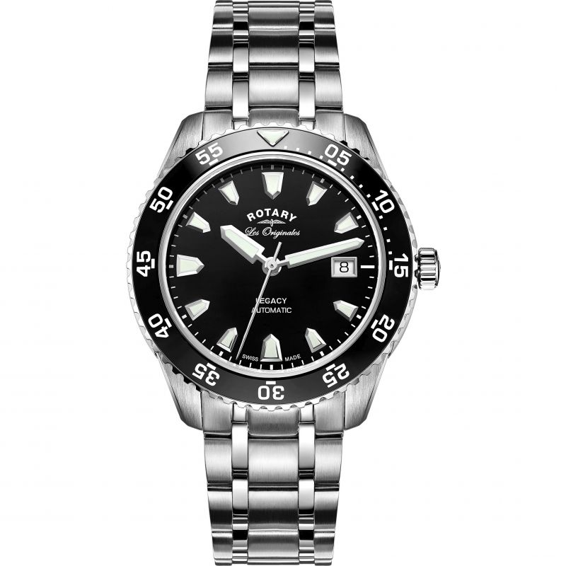 Mens Rotary Swiss Made Legacy Dive Automatic Watch
