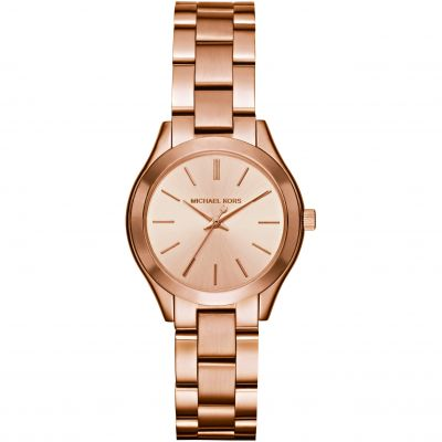Michael Kors Mini Slim Runway Damenuhr in Rosa MK3513