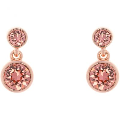 Ladies Karen Millen PVD rose plating Crystal Dot Earring KMJ879-24-94