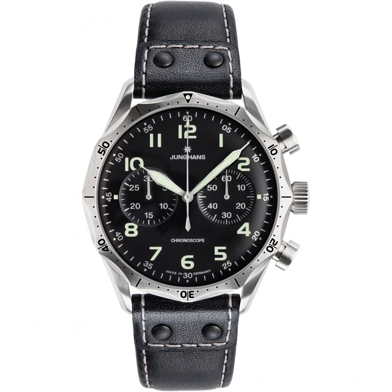 Mens Junghans Meister Pilot Chronograph Watch 027/3590.00