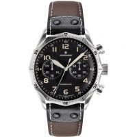 Mens Junghans Meister Pilot Automatic Chronograph Watch 027/3591.00