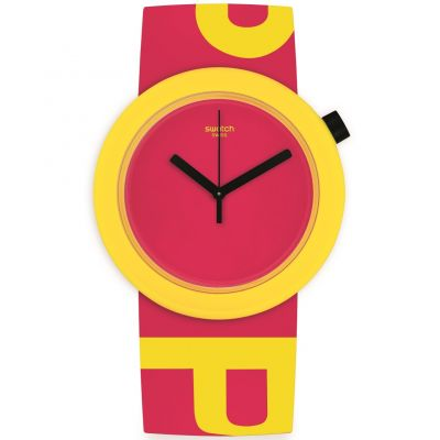 Swatch Originals Pop Pop-Tastic Unisexuhr in Rot PNJ100