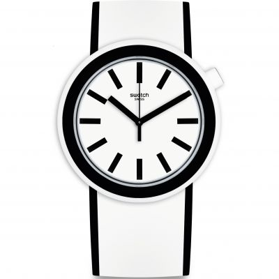 Swatch Pop-Moving Unisex horloge Wit PNW100