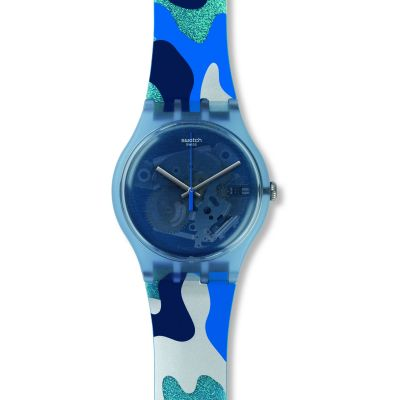 Swatch Originals New Gent Silverscape Unisexuhr in Mehrfarbig SUOZ215