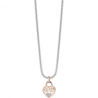 Ladies Guess All About Shine Silver/Rose Gold Necklace