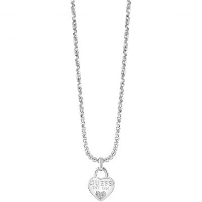Ladies Guess All About Shine Silver Necklace